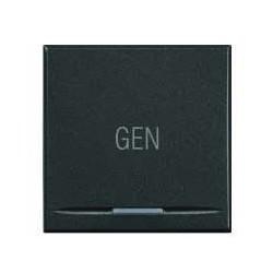 Bticino touche my home pour axolute - symbole gen - gris foncé - 2 modules HS49152AC