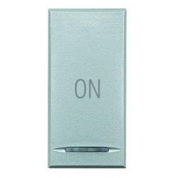 Bticino touche my home pour axolute - symbole on - gris clair - 1 module HC4915AB