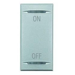 Bticino touche my home pour axolute - symbole on-off - gris clair - 1 module HC4911AG