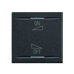 Bticino touche my home pour axolute - symbole on-off réglage - gris foncé - 2 modules HS49112AI