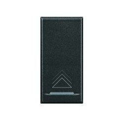 Bticino touche my home pour axolute - symbole variateur - gris foncé - 1 module HS4915AD