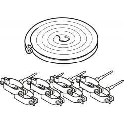 Bulex kit tube duo isole cuivre rouge avec colliers 10m 0020136746