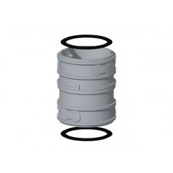 Burgerhout Raccord flex/flex PP condensateur diamètre 80/80 400452076