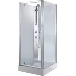 Cabine douche 90-90 + thermostat a encastrer paroi de verre. CARGF90T1B