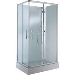 Cabine douche en verre 100-80 avec porte coulissante avec thermostat coin droite. CARA108DT1B