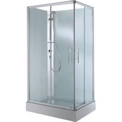 Cabine douche en verre 100-80 portes coulissantes avec thermostat coin gauche. CARA108ST1B