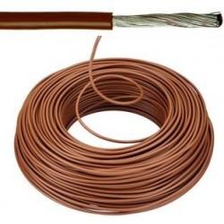 Câble souple 10mm² brun par mètre