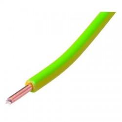 Câble vob 1x2.5 jaune/vert 100m VOB2.5VJ