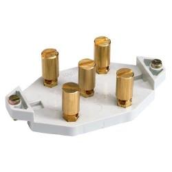 Vynckier Support à 5 bornes à capuchon 6mm² 30493058