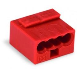 Wago Borne micro pour boîtes de dérivation à 4 conducteurs 243804