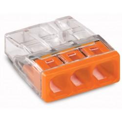 Wago Borne pour boîte de dérivation 3x0,5 à 2,5mm² WAG2273203