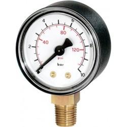 """Watts manometre mdr 63/16 1/4 """" 0-16kg rad 3323116"""