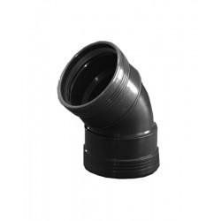 Wavin wafix pp coude 110mm 45° femelle/femelle noir S40002150