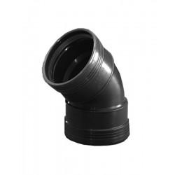 Wavin wafix pp coude 40mm 45° femelle/femelle noir S40002146
