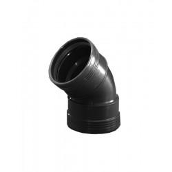 Wavin wafix pp coude 75mm 45° femelle/femelle noir S40002148