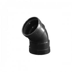 Wavin wafix pp coude 90mm 45° femelle/femelle noir S40002149