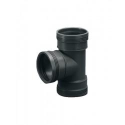 Wavin wafix pp pièce-t 75mm 88,5° 3x femelle noir S40002186