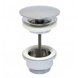Crépine design 5/4 ronde avec trop-plein chrome ETPL1180