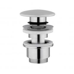 Crépine design systeme click 5/4 ronde avec trop-plein corian ETPL1160