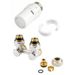 """Danfoss Design kit de robinet thermostatique pour radiateur universal intégré 1/2 """"-3/4 """" équerre 013G5187"""