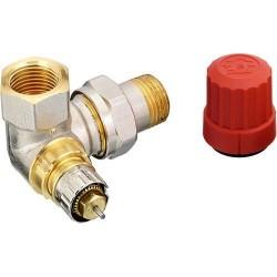 Danfoss vanne radiateur thermostatique  equerre double r 3/8 male femelle  013G0231