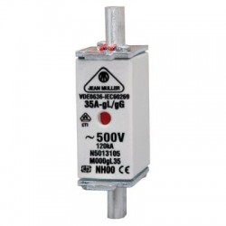Vynckier Fusible à couteaux pour protection des lignes M000 gL/gG 6A 093320014002