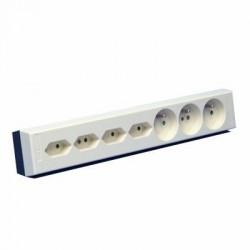 Vynckier Bloc multiprise 3x(2P+T)16A+4x(2P-2,5A) ivoire 030031240001
