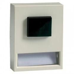 Vynckier Bouton poussoir apparent + porte-étiquette lumineux 6V 1NO ivoire 600899
