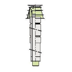 Viessmann Traversée de toit coaxiale, PPs,D60/100 7373230