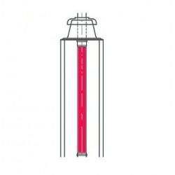 Viessmann Tube simple paroi, rigide  longueur1 m, diamètre80 mm 7194310