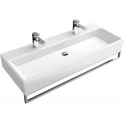 Villeroy & Boch, lavabo 100cm plus 2 trous robinet Memento blanc. 5133A101