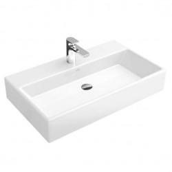 Villeroy & Boch, lavabo pour meuble Memento 80cm plus 1 (3) trou robinet blanc. 51338G01