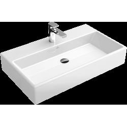 Villeroy & Boch, lavabo pour meuble Memento 80cm sans trou robinet blanc. 51338F01