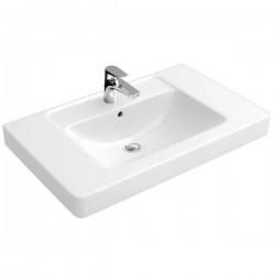 Villeroy & Boch, vasque meuble Memento /subway 80cm  trou robinet blanc. 61168001