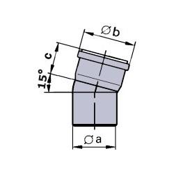 Viessmann Coude 15°, PPs, D80 mm (2 unités) 7194317