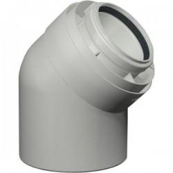 Viessmann Coude coaxial 45°, PPs, diamètre 80/125 mm 7194324