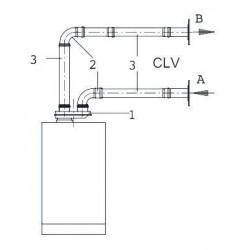 Viessmann Coude simple paroi 45°,D80mm,inoxydable 9564795