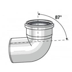 Viessmann Coude simple paroi 87°, diamètre80 mm 7194314