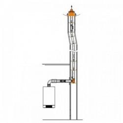 Viessmann Element de base conduit,PPs,métal,D80mm 7452179