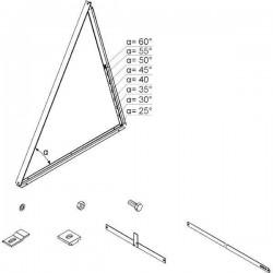 Viessmann Système de fixation 2xSH2C support indépendant 45° Z013156