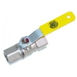 Vanne robinet à bille pour gaz  (ARGB) 6/4 female/female 56232