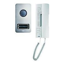 Urmet Kit aud. 2 fils, portier audio en saillie 1 bton, poste intérieur, combiné Utopia 1122/31
