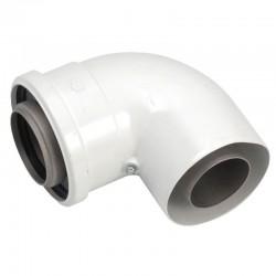 Vaillant  coude concentrique 87° C PP  diamètre 60/100 mm 303910