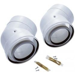 Vaillant de 2 coude 45° C PP  diamètre 60/100 mm 303911