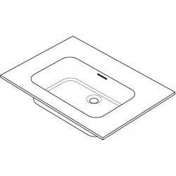 Tablette combo/molto 90x50cm solide blanc R90OX