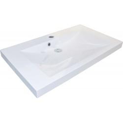 Tablette marbre artificiel city 80x40,6 1 lavabo blanc 156173