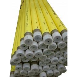 Tube gaz en acier EN10255M + gaine PE jaune pour souder 6m par mètre 4/4  131778