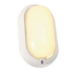 SLV Applique et plafonnier extérieur TERANG 2, LED, 3000 K, IP44, ovale, blanc, 11 W