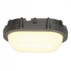 SLV Applique et plafonnier extérieur TERANG, LED, 3000 K, IP44, ovale, anthracite, 9 W