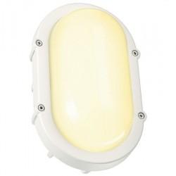 SLV Applique et plafonnier extérieur TERANG, LED, 3000 K, IP44, ovale, blanc, 9 W